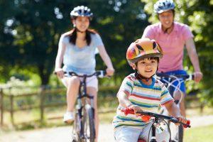 Bike riding familycropped